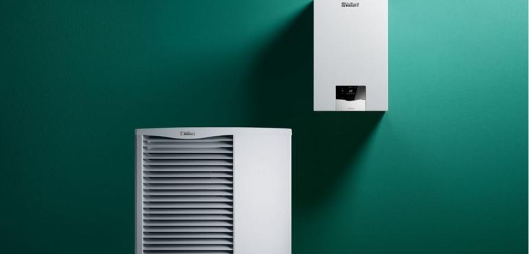 sistema ibrido caldaia condensazione pompa di calore consorzio caib idraulico bergamo vaillant